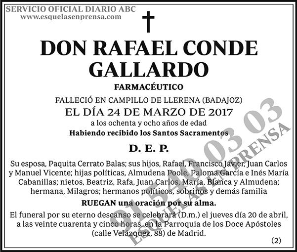 Rafael Conde Gallardo